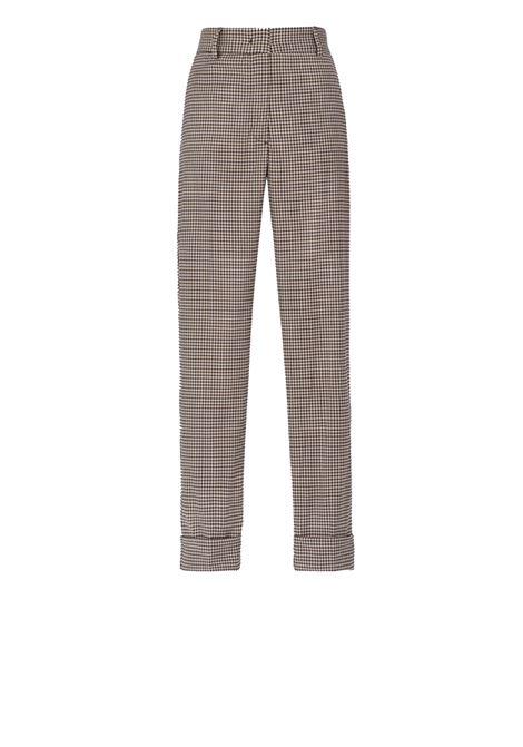 Vichy check cool wool trousers MOMONI   Pants   MOPA009 11MO0092