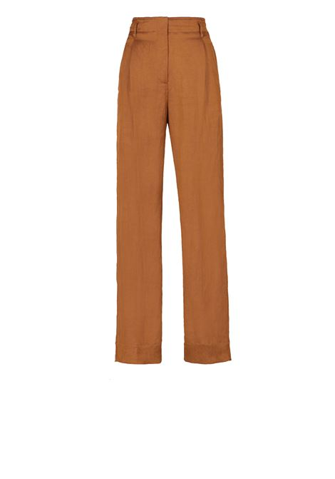 Viscose linen high-waisted trousers  MOMONI   Trousers   MOPA016 16MO0640