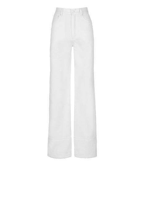 Natural white high-waisted cotton linen jeans MOMONI | Pants | MOPA017 17MO0011