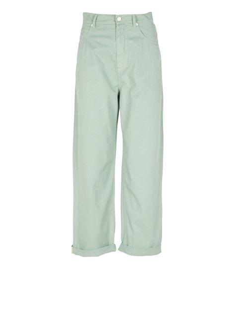 Pantaloni larghi in gabardina Verde MOMONI | Jeans | MOPA018 20MO0763