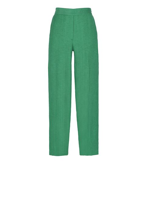 Viscose linen slim fit trousers with elastic  MOMONI | Trousers | MOPA019 18MO0755