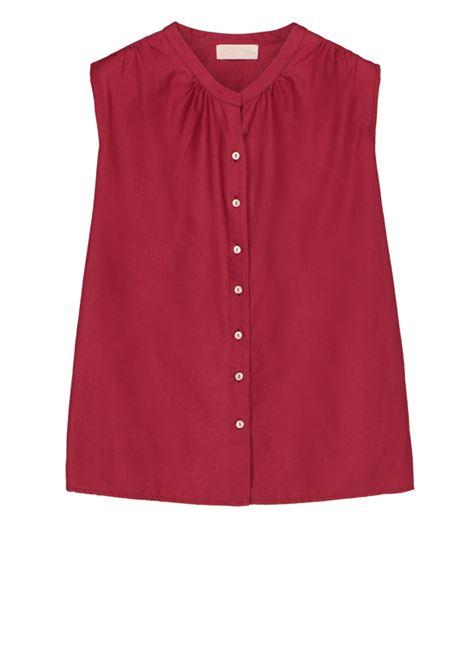 Sleeveless wine cotton silk shirt MOMONI | Shirts | MOSH009 05MO0370