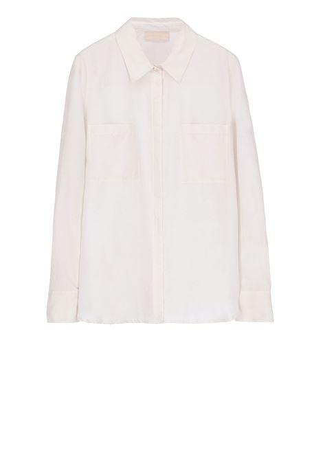 Cream cotton silk shirt MOMONI | Shirts | MOSH010 05MO0040
