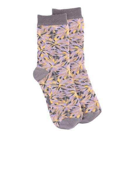 Cotton blend jacquard socks with yellow pinwheel print MOMONI |  Stockings | MOSO001 52MO2043