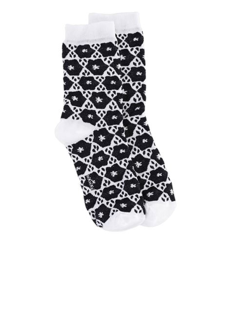Cotton blend jacquard socks with tile print MOMONI | Socks | MOSO001 52MO9018