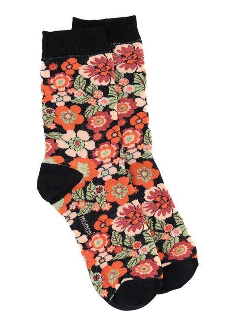 Cotton blend jacquard socks with tile print MOMONI |  Stockings | MOSO001 52MO9038