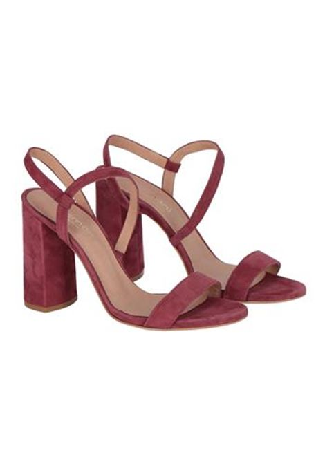 SUEDE SANDAL WITH HEEL, BORDEAUX MOMONI | Sandals | MOSS002 68MO0380