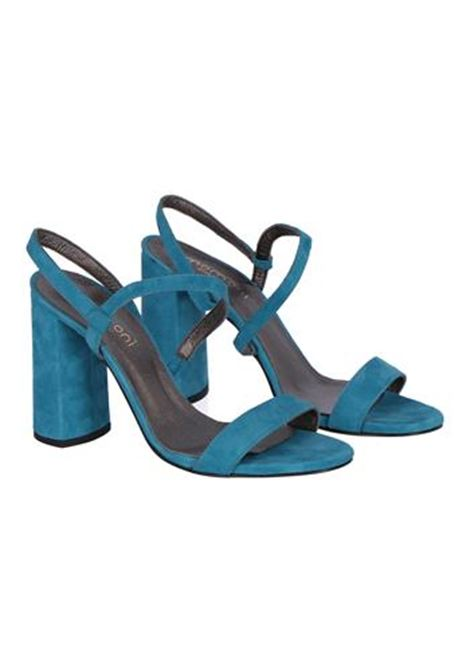 SUEDE SANDAL WITH HEEL, LIGHT BLUE MOMONI | Sandals | MOSS002 68MO0834