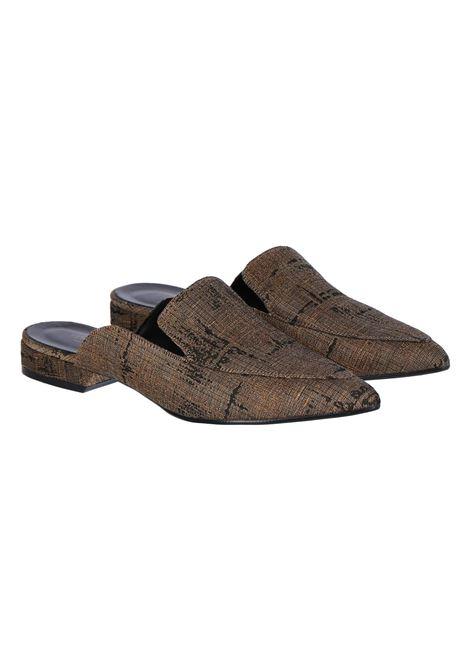 GOLD JACQUARD SLIPPERS MOMONI | Shoes | MOSS008 26MO2000