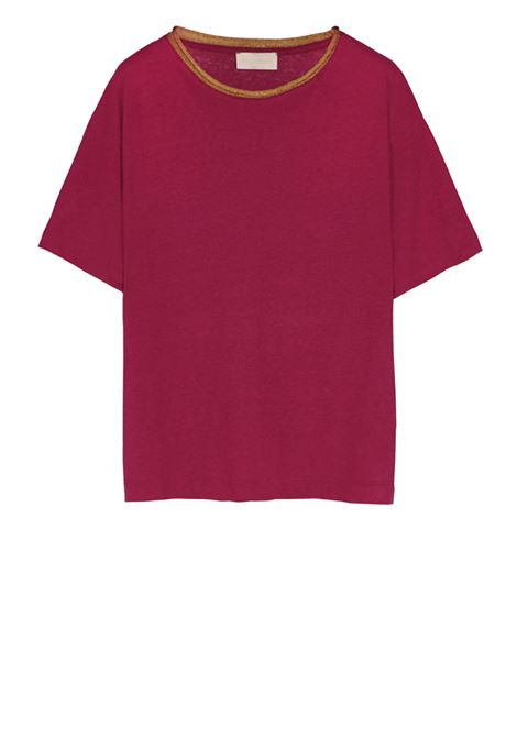 Oversized t-shirt in linen cotton jersey MOMONI | T-shirts | MOTS011 35MO0455