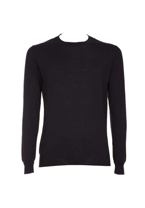 Lightweight silk and cotton sweater - black PAOLO PECORA | Sweaters | A002-F2009000