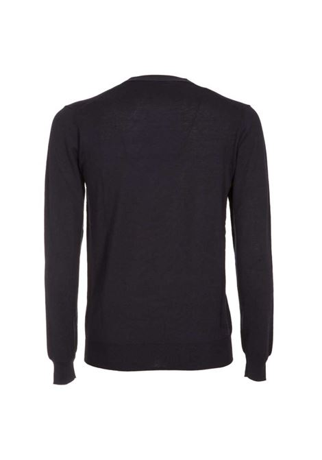 Lightweight silk and cotton sweater - black PAOLO PECORA | Knitwear | A002-F2009000