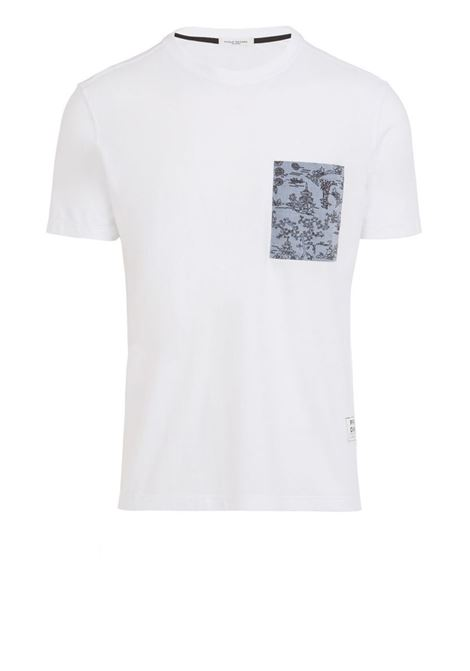 Crew-neck T-shirt with printed breast pocket PAOLO PECORA | T-shirts | F210-41691101