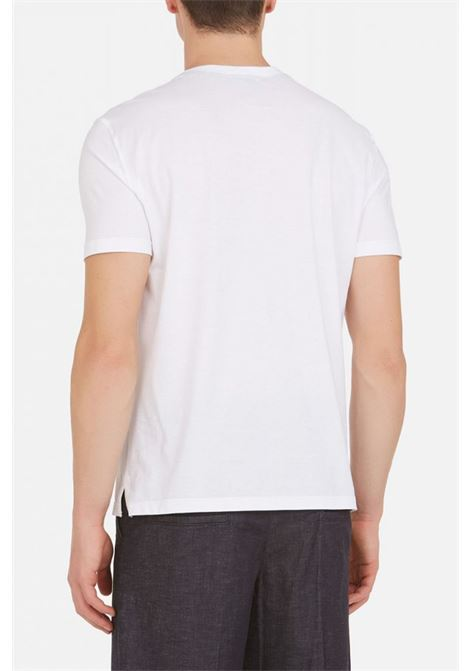 Crew-neck T-shirt with printed breast pocket PAOLO PECORA | T-shirt | F210-41691101