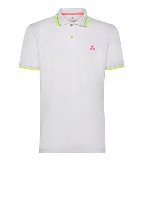 Piquet polo shirt in with fluorescent details PEUTEREY | Polo Shirts | PEU3477BIA