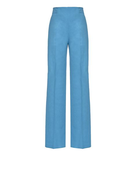 Palazzo trousers in linen and viscose cloth PINKO | Trousers | 1B14F3-7435F54