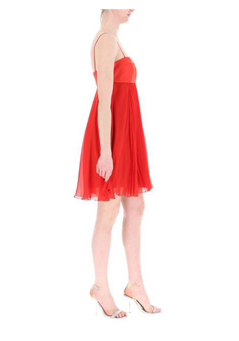Chiffon sleeveless short dress - red PINKO | Dresses | 1B14GL-6242R73