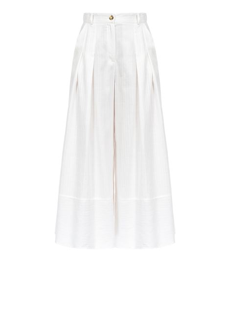 Cotton palazzo trousers PINKO | Trousers | 1B14GM-7985Z05