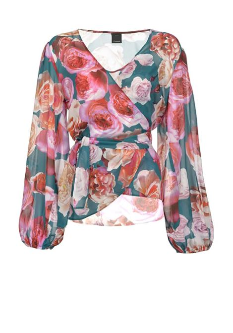 Bouquet-print blouse PINKO | Blouse | 1G14KH-7932SW2