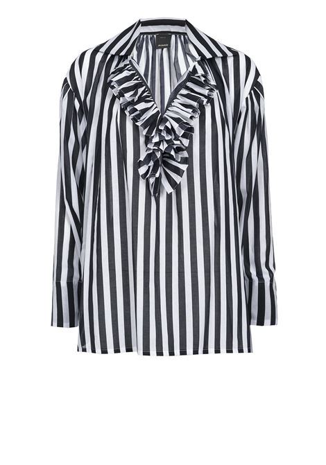Striped blouse with belt PINKO | Blouse | 1G14RK-7930ZZ2