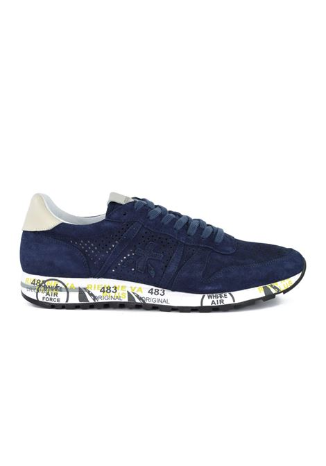 ERIC 3836 shoe shoe in blue perforated suede PREMIATA | Shoes | ERIC3836