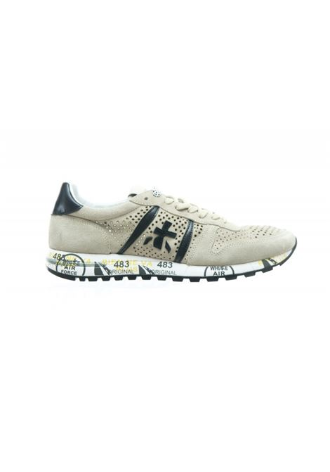 ERIC 4740  shoe in beige perforated suede PREMIATA | Shoes | ERIC4740