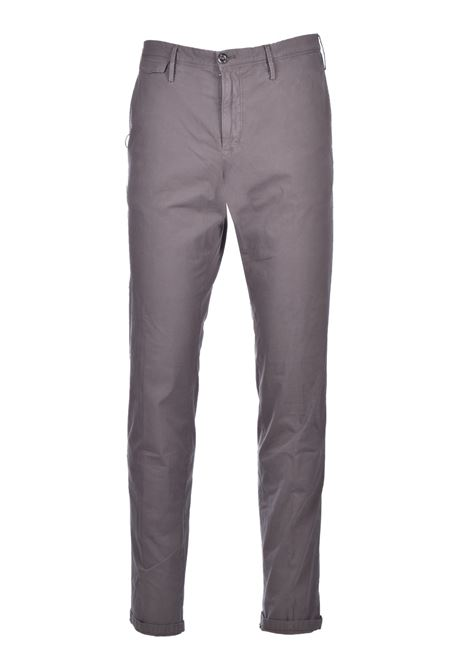 Cotton blend chinos - mud PT01 | Trousers | COTTSAZ10WOLNU060120