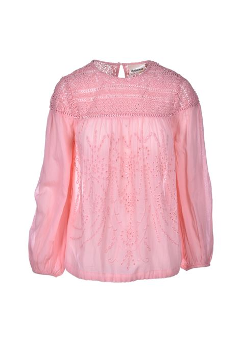 Blouse with lace - antique pink SEMICOUTURE | Blouse | S0SI04H17-0
