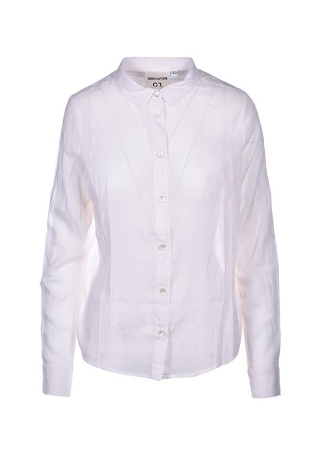 veronique camicia in mussola - avorio SEMICOUTURE | Camicie | Y0SI06A40-0
