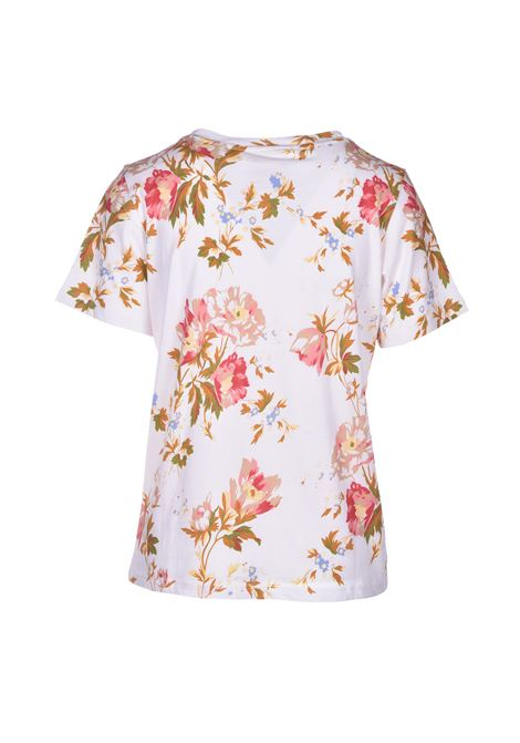 loanne T-shirt in mussola a fiori SEMICOUTURE | Top & T-shirt | Y0SI10STP11