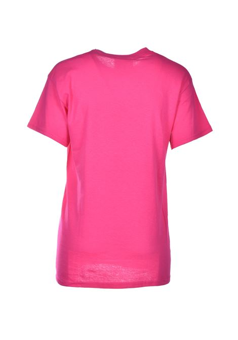 laurentin t-shirt fuxia con logo SEMICOUTURE | Top & T-shirt | Y0SJ44G47-0