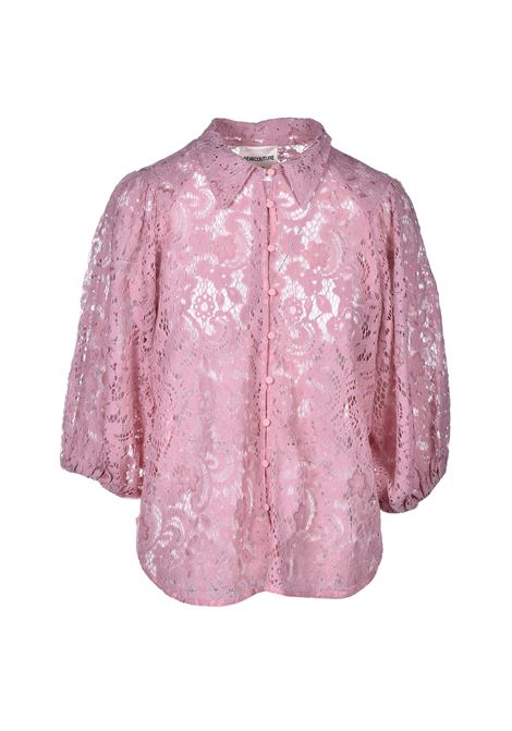 louise lace shirt - quartz SEMICOUTURE | Shirts | Y0SM04F01-0