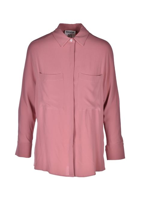gabrielle Shirt in mixed silk - rose quartz SEMICOUTURE | Shirts | Y0SU04F01-0