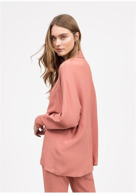 gabrielle Camicia in misto seta - rosa quarzo SEMICOUTURE | Camicie | Y0SU04F01-0