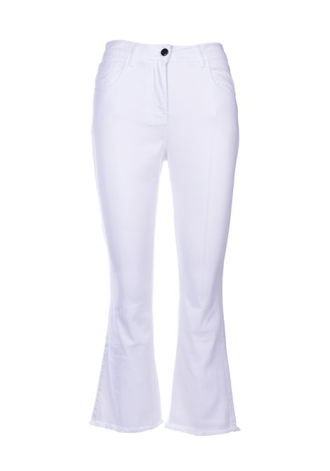 frederick Jeans flare sfrangiati - bianco SEMICOUTURE | Jeans | Y0SY10A01-0