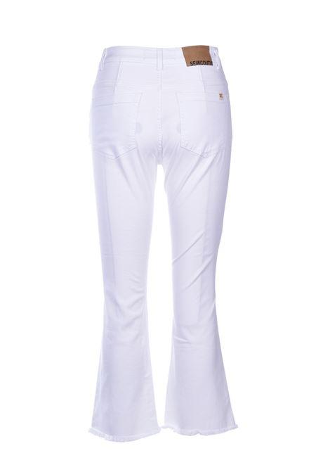 frederick Jeans flare sfrangiati - bianco SEMICOUTURE | Jeans | Y0SY10A01-0