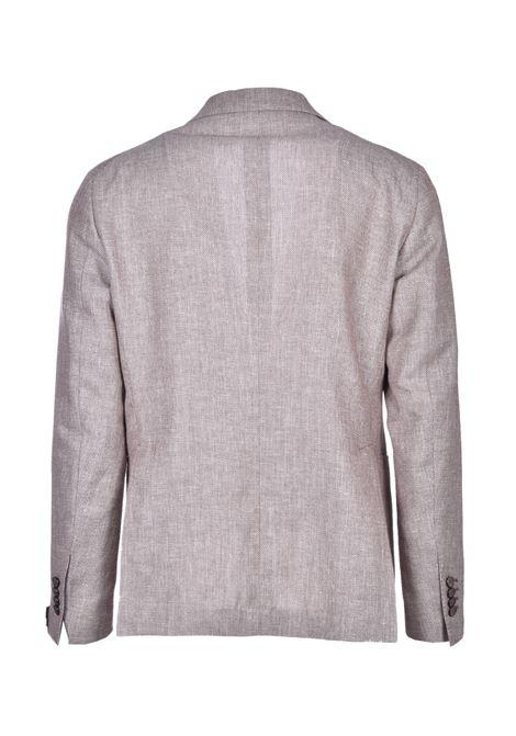Blazer classico in misto lino e cotone - beige TAGLIATORE | Giacche | 1SMC22K 77UEG176T1286