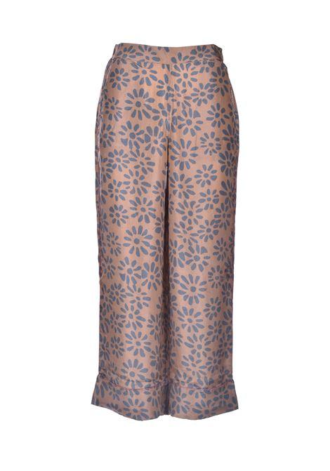 Pantalone in seta con corallini ALESSIA SANTI | Pantaloni | 25013119084-01