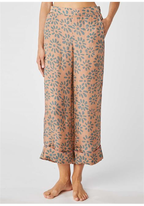 Trousers in silk with coral ALESSIA SANTI | Pants | 25013119084-01