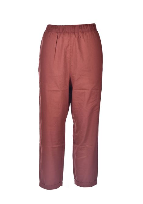 Crock-colored pure cotton trousers ALESSIA SANTI | Pants | 25062S3491