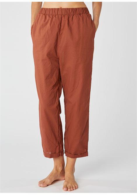 Pantalone in puro cotone color coccio ALESSIA SANTI | Pantaloni | 25062S3491