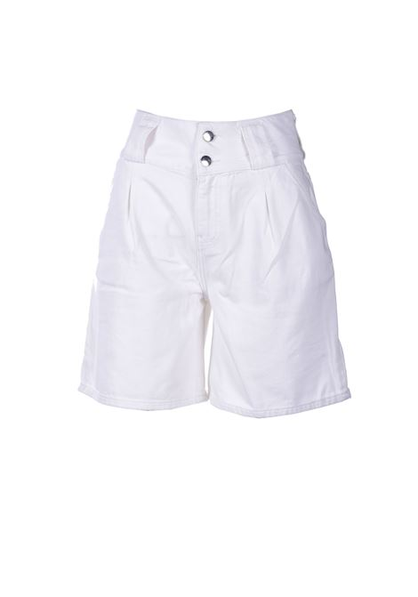 Bermuda in denim bianco a vita alta ALESSIA SANTI | Shorts | 26002119035-01