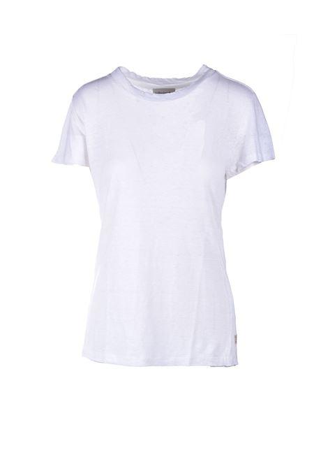 T-shirt mezza manica in lino - Bianca ALESSIA SANTI | T-shirt | 64014S2128