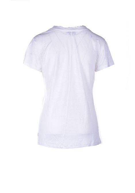Half sleeve linen T-shirt - White ALESSIA SANTI | T-shirt | 64014S2128