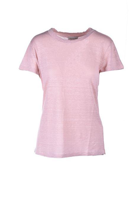 T-shirt mezza manica in lino - Pelle ALESSIA SANTI | T-shirt | 64014S2474