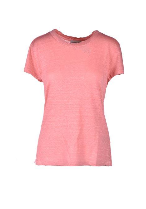 T-shirt mezza manica in lino - Caramella ALESSIA SANTI | T-shirt | 64014S2488