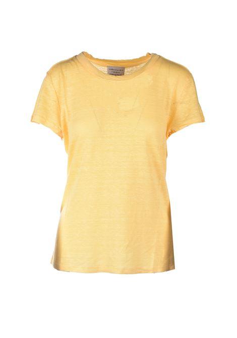 Half sleeve linen T-shirt - Yellow ALESSIA SANTI | T-shirt | 64014S3733