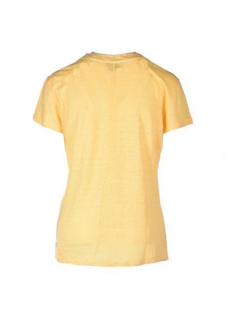 T-shirt mezza manica in lino - Giallo ALESSIA SANTI | T-shirt | 64014S3733