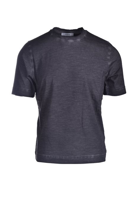 T-shirt in jersey di cotone slub nero ALPHA STUDIO | T-shirt | AU 4430/CS1233