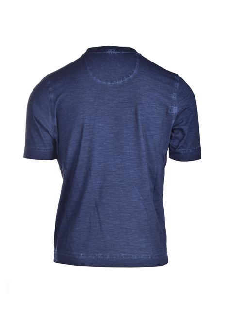 Midnight blue slub cotton jersey T-shirt ALPHA STUDIO | T-shirt | AU 4430/CS1235